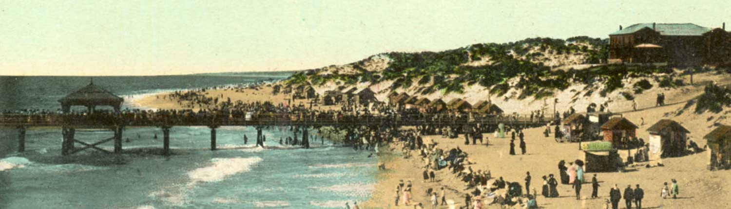 c1908 After the jetty