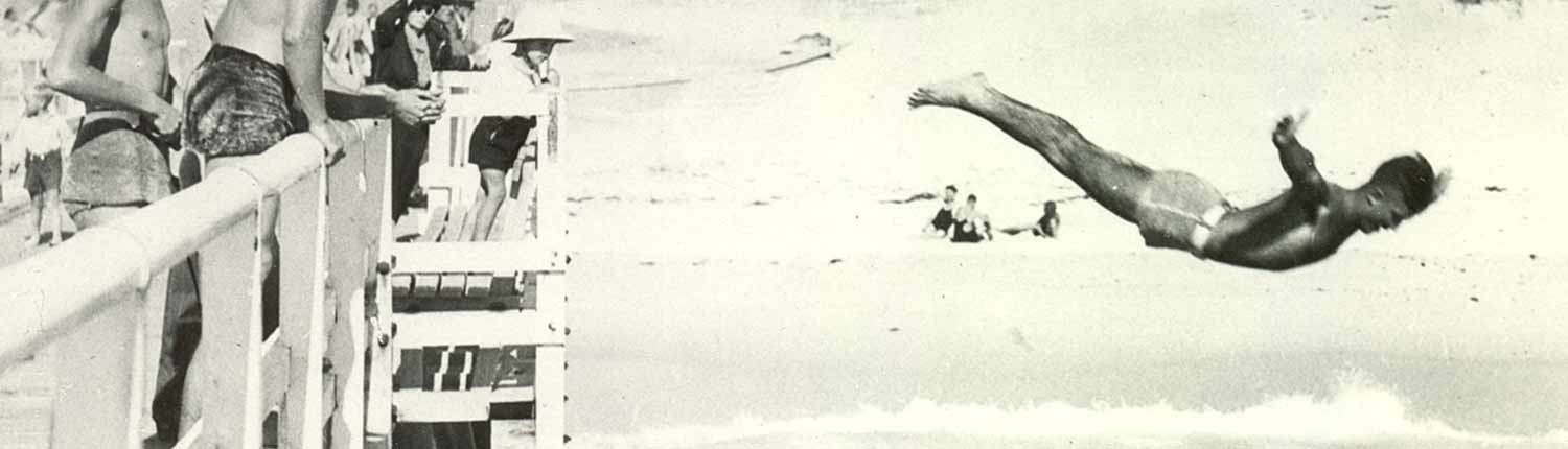 c 1936 Bruce Gaston diving from the jetty