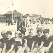 1921 Bathing belles on Cottesloe Beach
