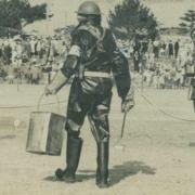 1940 Air raid wardens organised a mock air raid