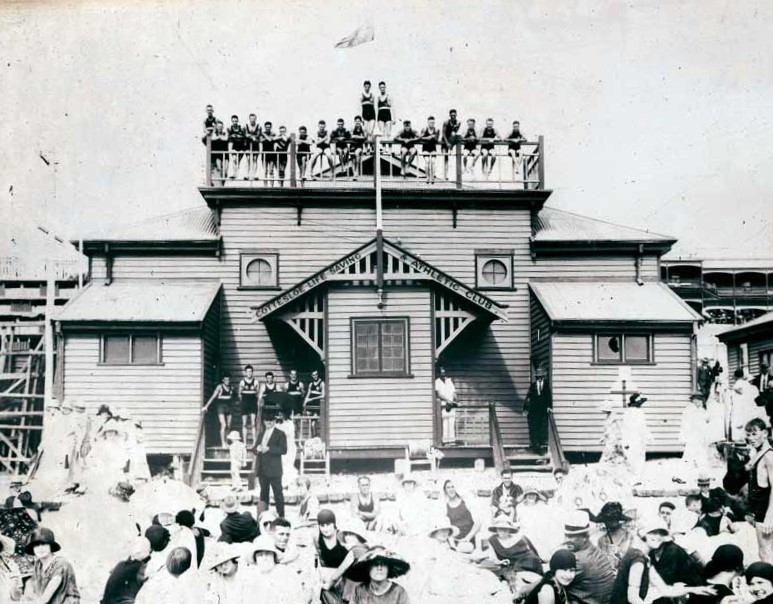 1924. Opening day for the enlarged clubrooms