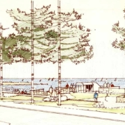 1981 Proposed replacement for the Centenary Pavilion by Brand, Deykin & Hay