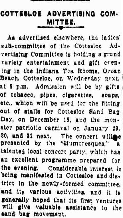 Sandbag Day Daily News 1915