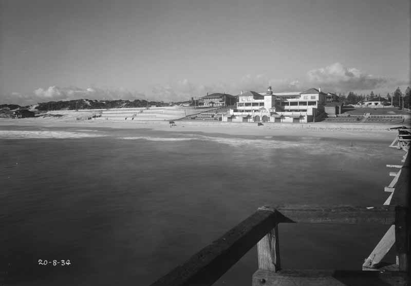1934 View from the jetty of the newly cleared beachfront.